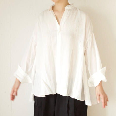 suzuki takayuki(スズキタカユキ) flared blouse リネン フレアブラウス