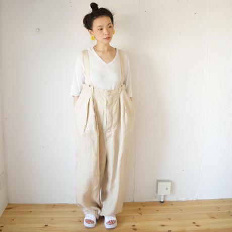 suzuki takayuki (スズキタカユキ) salopette リネン オーバーサイズサロペット