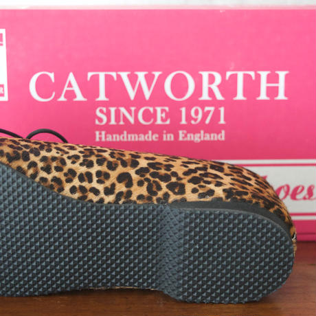 CATWORTH(カットワース/キャットワース)Jazz Shoe /  Hair Calf Jaguar ヘアカーフ ジャガープリント プレーントゥ