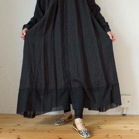 suzuki takayuki (スズキタカユキ) flared dress リネン ベルト付きギャザーワンピース