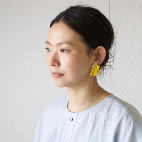 tamas(タマス)イヤリング&ピアス「昼花火/Yellow」