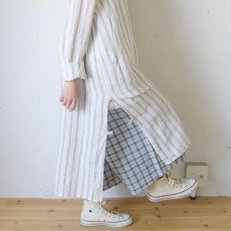 Vlas Blomme(ヴラスブラム)  平織Vintage Check ペンギンパンツ 3503021