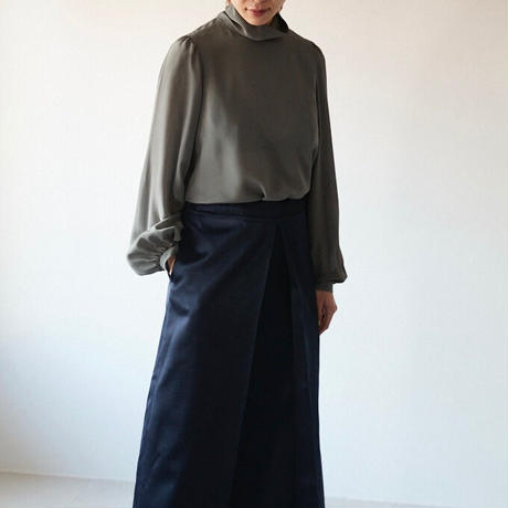 humoresque(ユーモレスク) 後ろ開きハイネックブラウス highneck blouse puff