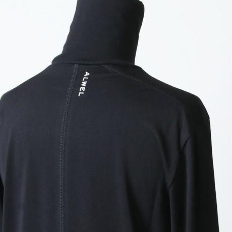 [残りホワイト/ Sサイズのみ] ALWEL (オルウェル) long sleeve roll neck T コットン ハイネックTシャツ