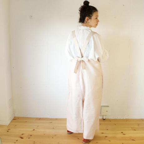BUNON(ブノン) - Embroidery Overalls  リネンコットン サロペット