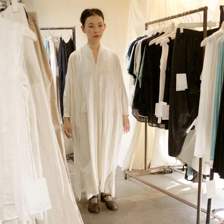 suzuki takayuki (スズキタカユキ) peasant dress レーヨンリネン ペザントドレス(ワンピース)