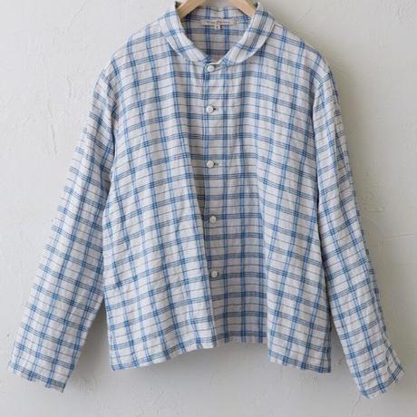 Vlas Blomme(ヴラスブラム)  Vintage Check(平織) ライトジャケット 13401021
