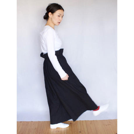YARMO(ヤーモ)  Drawing Wide Culottes Pants ドローイング ワイドキュロットパンツ