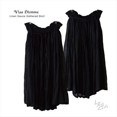 Vlas Blomme(ヴラスブラム)  Linen Gauze ギャザースカート 13538491