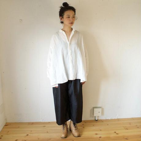 BUNON(ブノン) シルク ワイドベルトパンツ  Wide Belt Pants