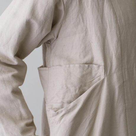 Vlas Blomme(ヴラスブラム)   Cotton Linen ラチネ コートワンピース 13419401