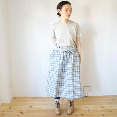 Vlas Blomme(ヴラスブラム)  Vintage Check(ドビー+平織) ジャンパースカート 13502021