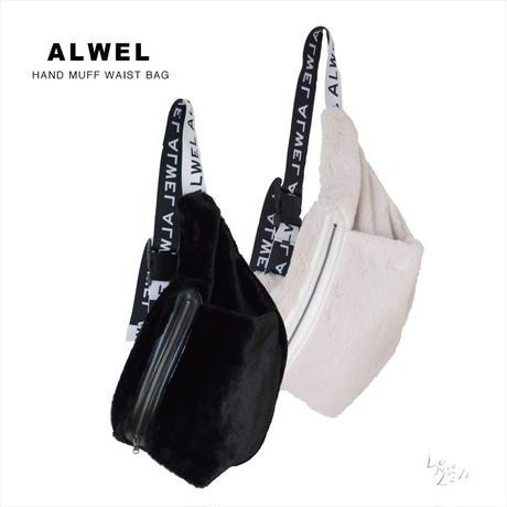 ALWEL(オルウェル) HAND MUFF WAIST BAG フェイクファー マフ付き ウエストバッグ