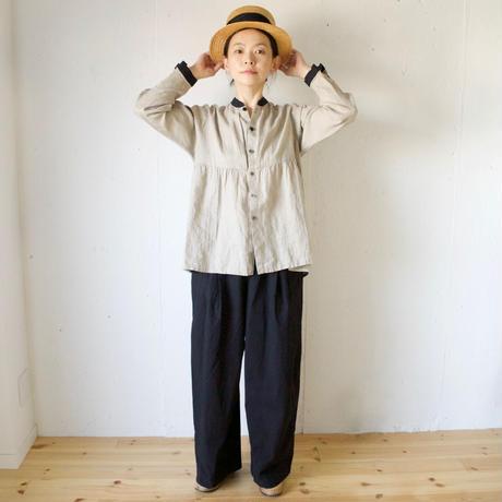 Vlas Blomme(ヴラスブラム)  Belarus Linen 切替えブラウス