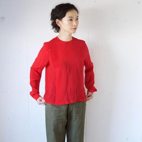 humoresque(ユーモレスク) シルクデシン タック入りブラウス long tuck blouse