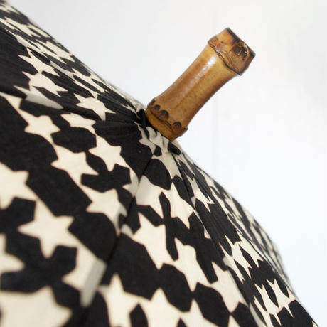 傳(ツタエノヒガサ)浜松注染 日傘/ 長傘タイプ「キツネノタスキ -  キラキラ黒」