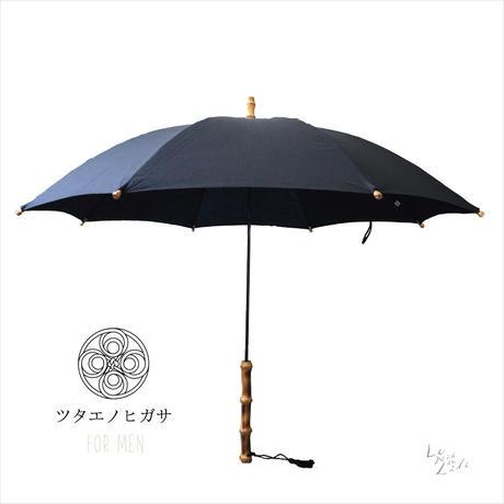 ツタエノヒガサ for men  日傘/ 長傘タイプ「テングノタスキ - 黒ム地 」