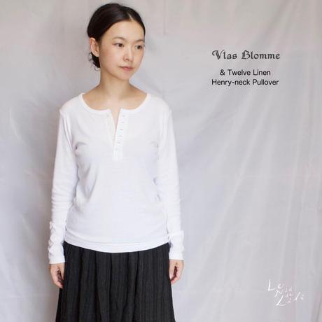 Vlas Blomme(ヴラスブラム)  & Twelve Linen コットンリネン ヘンリーネックプルオーバー 12138881