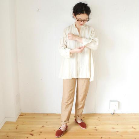 humoresque(ユーモレスク) リネンシルク テーパードパンツ waist belt pants