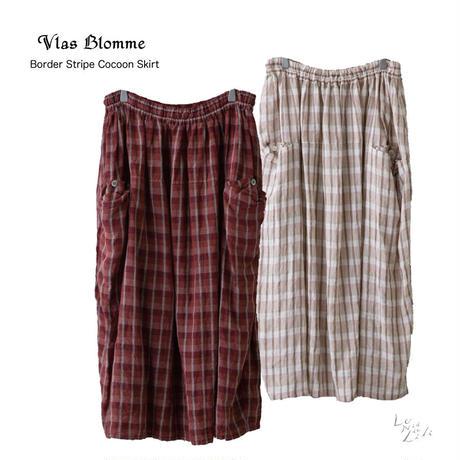 Vlas Blomme(ヴラスブラム)  Border Stripe コクーンスカート 13540091[☆]