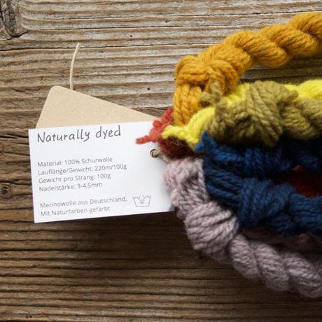 【受注販売】mominoki yarn: 草木染め German Merino ドイツ産メリノウール