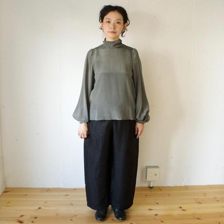 Vlas Blomme(ヴラスブラム)Vintage Linen Twill ワンタックパンツ