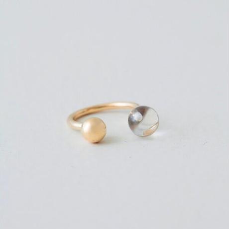 Aperdiem(アペルディエム) 水晶+ボール リング Sphere RING