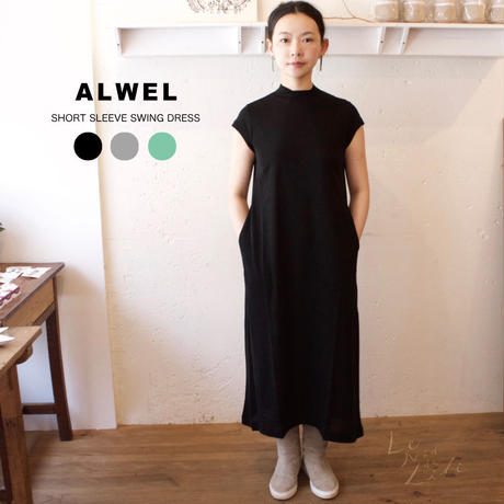 ALWEL(オルウェル) | SHORT SLEEVE SWING DRESS サイズ:[S] [M]