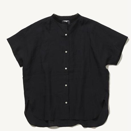 DU TANGO DS-0421 フレンチスリーブリネンシャツ(BLACK)