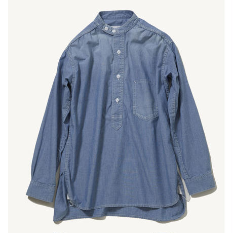 DU TANGO DS-0121 スタンドカラーワークシャツ(CHAMBRAY)