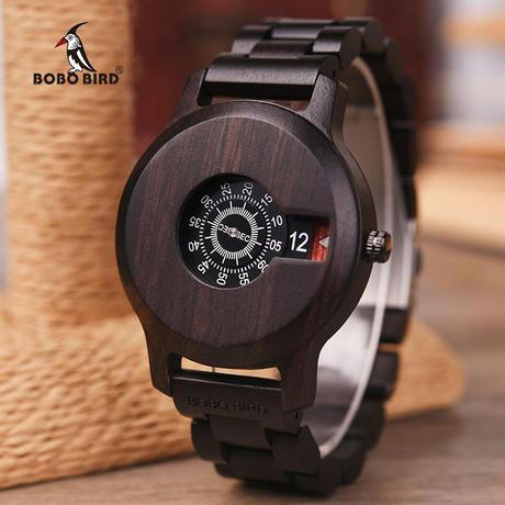 BOBO BIRD 木製腕時計 クォーツ ナチュラル腕時計 ⑧