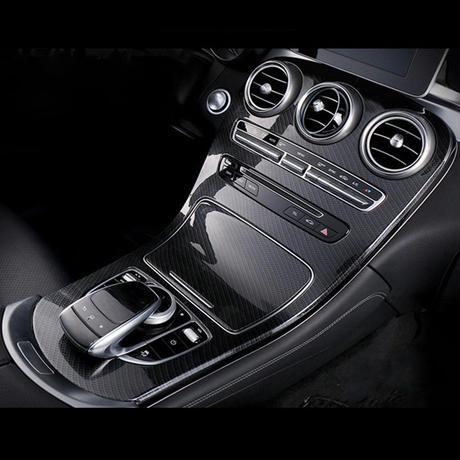 メルセデス・ベンツ w205 X253 Cクラス GLCクラス  カーボン調  センターコンソールデカール