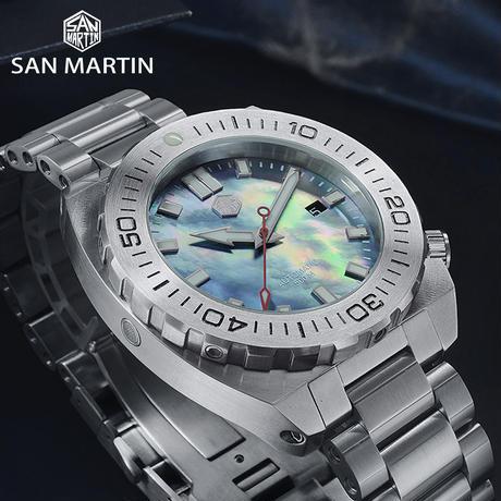 SAN MARTIN サンマーティン   ダイビングスポーツウォッチ ダイバーズ 500m耐水 オマージュウォッチ 日本未発売⑤