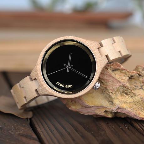 BOBO BIRD 木製腕時計 クォーツ ナチュラル腕時計 ⑨