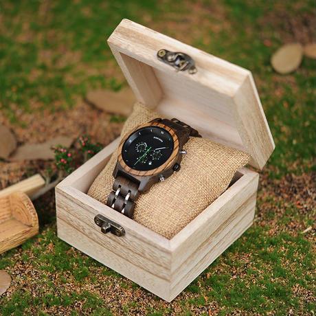 BOBO BIRD 木製腕時計 クロノグラフ クォーツ ナチュラル腕時計 ⑤