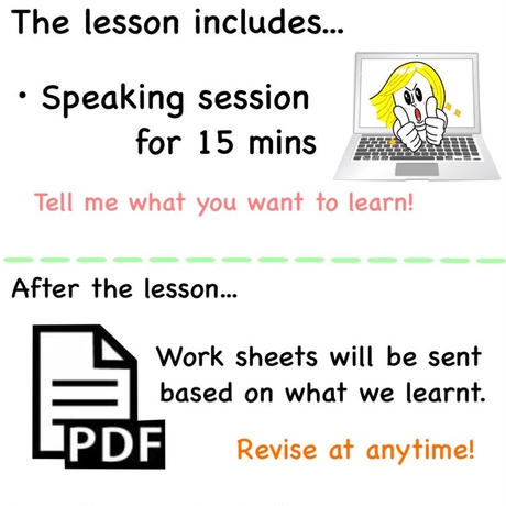 15mins lesson + Work Sheets
