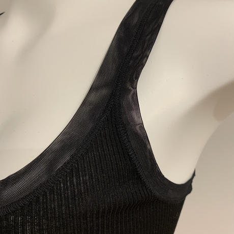 Fralyコットンキャミソールチュール ブラック