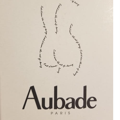 Aubadeトライアングルブラ&ショーツset noire