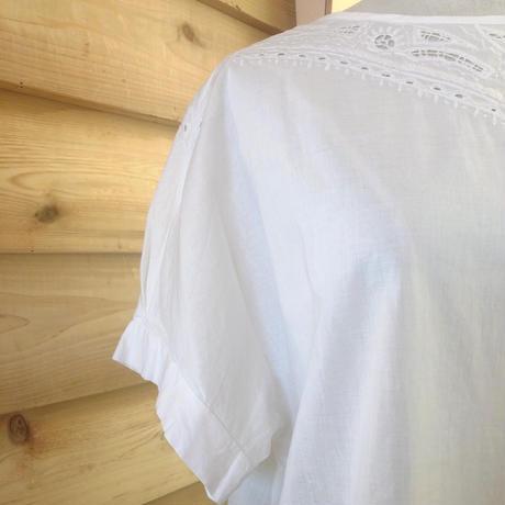 NOMBRE IMPAIR インドネシア刺繍ブラウス White