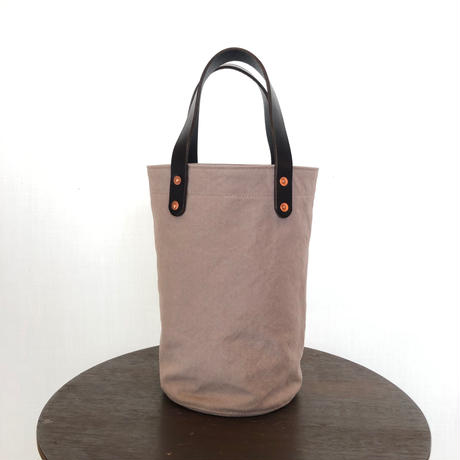 washed canvas tote bag  (small  Grey)