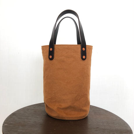 washed canvas tote bag  (small  Camel)