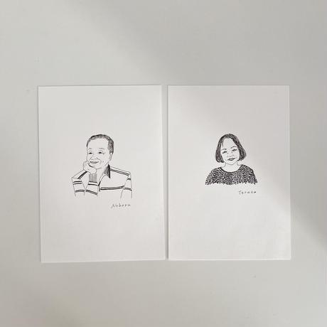 Sayuri Hachikawa ポートレートカード×2