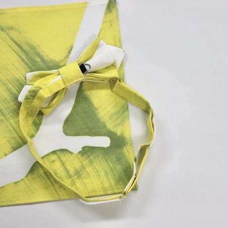 山崎菜穂子 「枝とテンポ」ボウタイ&チーフ/イエロー