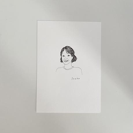 Sayuri Hachikawa ポートレートカード×4