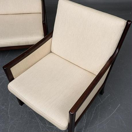 Ole wanscher  PJ3SeaterSofa&LoungeChairx2,Side Table Set