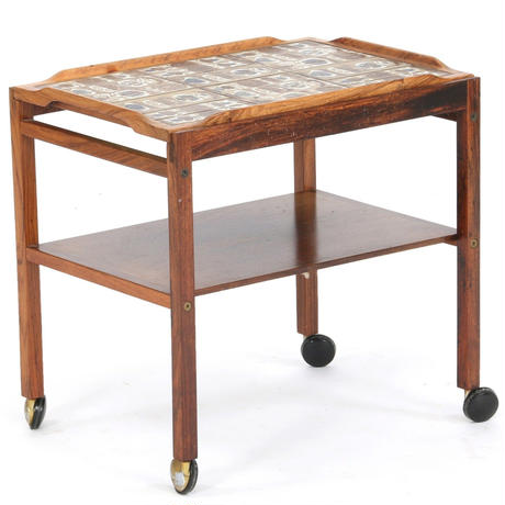 """Baca"" Tile top tray  tea trolley"