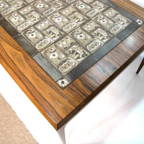 """Tile top Coffee table """"Baca""""  by Johannes AndersenxNils Torsson"""