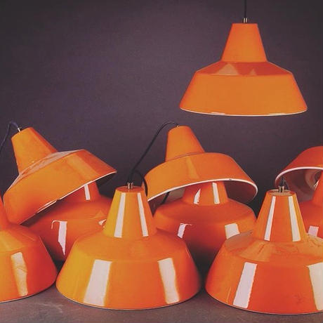 Orange  Work Shop Lamp By Louis Poulsen
