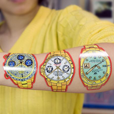 スイスの腕時計 ステッカーポスター sticker poster