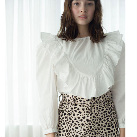 frill puff blouse